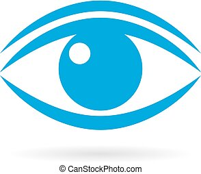 Blue eye vector icon