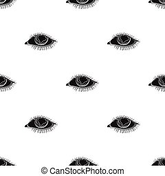 Blue eyes of a man who suffers from diabetes. Brilliant eyes from high blood sugar. Diabetes single icon in black style vector symbol stock illustration.