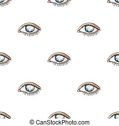 Blue eyes of a man who suffers from diabetes. Brilliant eyes from high blood sugar. Diabetes single icon in cartoon style vector symbol stock illustration.