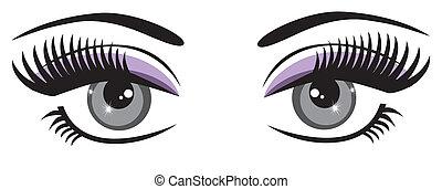 Blue Eyes - vector beautiful blue eyes