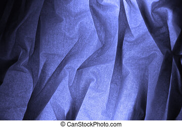 blue fabric background