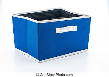 blue fabric box