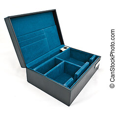 blue fabric box isolated