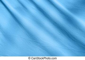 Close up of blue tarpaulin fabric sheet background texture stock