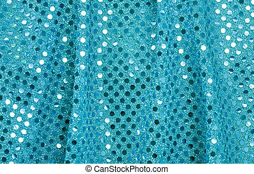 Blue Fabric with Spangles