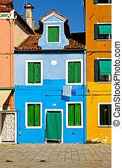 Blue facade