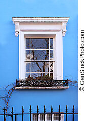 Blue facade window