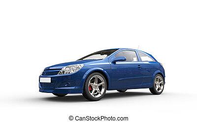 Blue Family Car