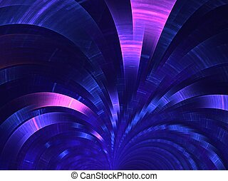 Blue fan. Abstract background