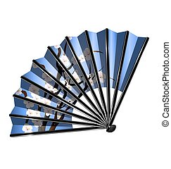 blue fan and blossom