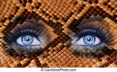 blue fashion makeup eyes leopard jaguar skin texture - blue...