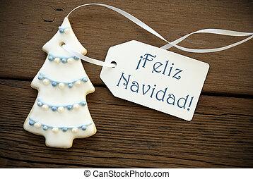 Blue Feliz Navidad as Christmas Greetings - The Blue Spanish...