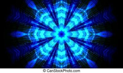 blue fiber optic mesh and spiderweb