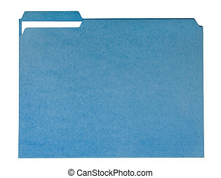 Blue File Folder - File folder for compiling info on various...