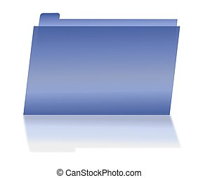 Blue File Folder with Shadow