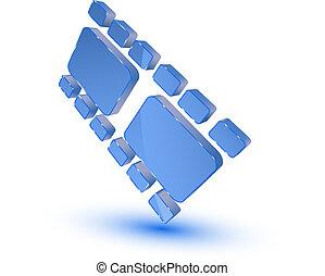 Blue film strip symbol