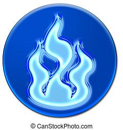 Blue fire icon