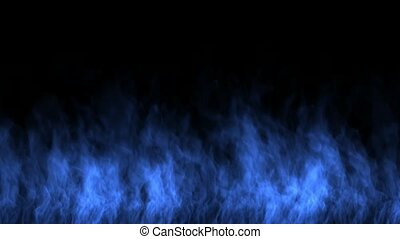 blue fire wall.
