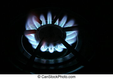 Blue Flame - Blue flame of gas range