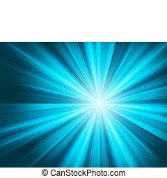 Blue flame burst. EPS 8
