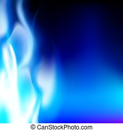 blue flame on a black background