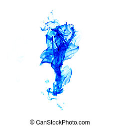 blue flames isolated on white background