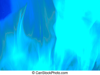 Blue Flames of Fire textured Background Design