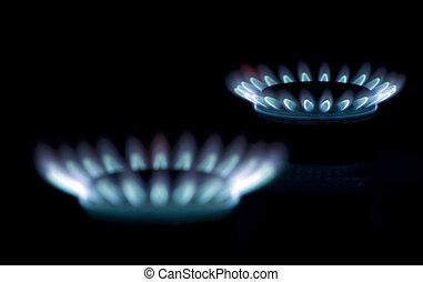 flames of gas