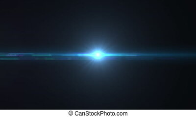 Blue Flares Pack of Five with glowing spots of light and lens flare