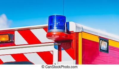 blue flashing light