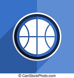 blue flat design ball modern web icon