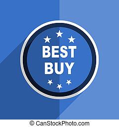 blue flat design best buy modern web icon