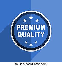 blue flat design premium quality modern web icon