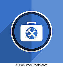 blue flat design toolkit modern web icon