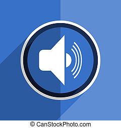 blue flat design volume modern web icon
