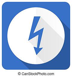 blue flat icon
