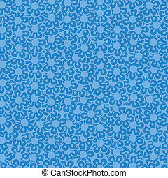 Blue floral abstract background.