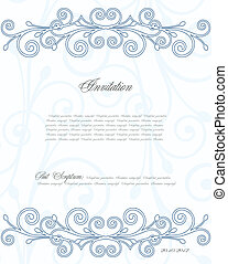 Blue floral background for design. Vector