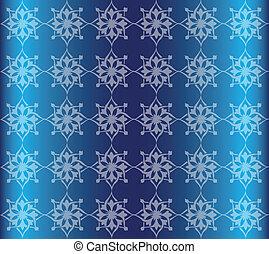 Blue Floral Luxury Ornamental