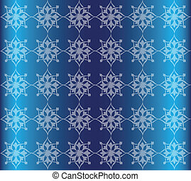 Blue Floral Luxury Ornamental