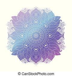 Blue floral mandala vector