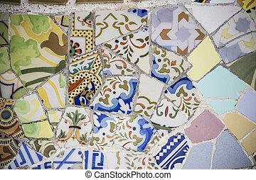 Blue Floral Mosaic