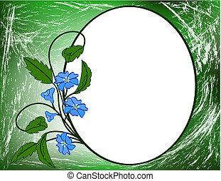 Blue floral pattern.
