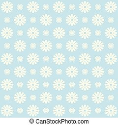 Blue floral pattern, vintage background