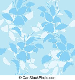blue floral seamless pattern - vector