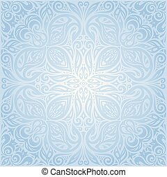 Blue floral vector decorative background mandala design