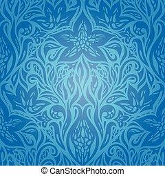Blue floral vector invitation decorative background design