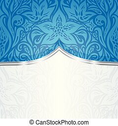Blue Floral Wallpaper Background