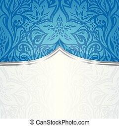 Blue Floral Wallpaper Background
