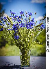 Blue flower cornflower